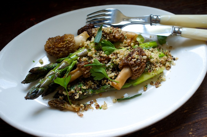 Morels with Asparagus & Five Reason to Eschew Recipes